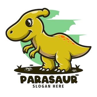 Szablon logo kreskówka maskotka dinozaura