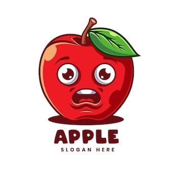 Szablon logo kreskówki jabłka