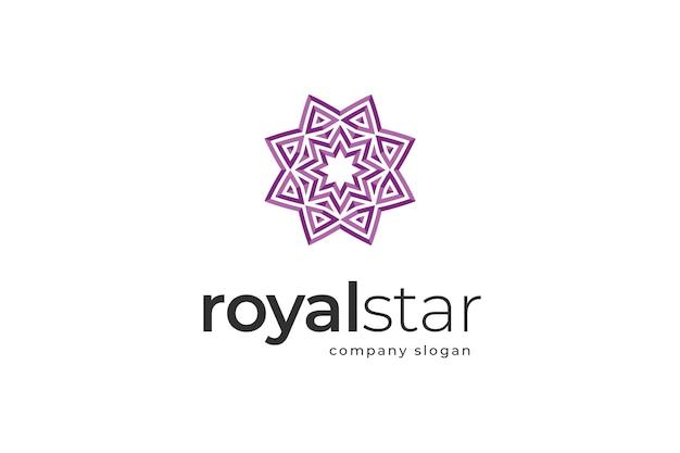 Szablon logo królewskiej gwiazdy