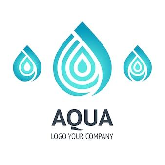 Szablon logo kropli wody