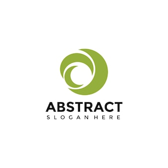 Szablon logo kwiat abstact