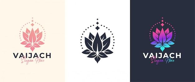 Szablon logo kwiat lotosu