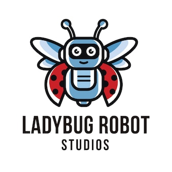 Szablon logo ladybug robot studios