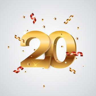 Szablon logo lat rocznica ilustracji