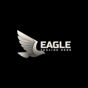 Szablon logo latający orzeł gradientu kolorowy styl