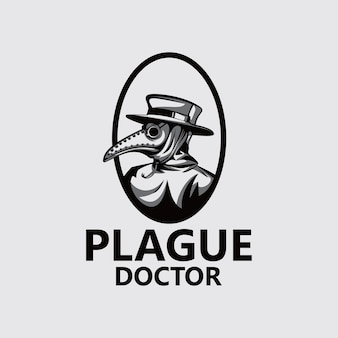 Szablon logo lekarza dżumy