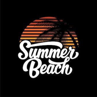 Szablon logo letniej plaży