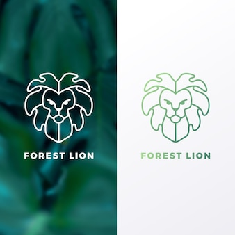 Szablon logo lew leśny
