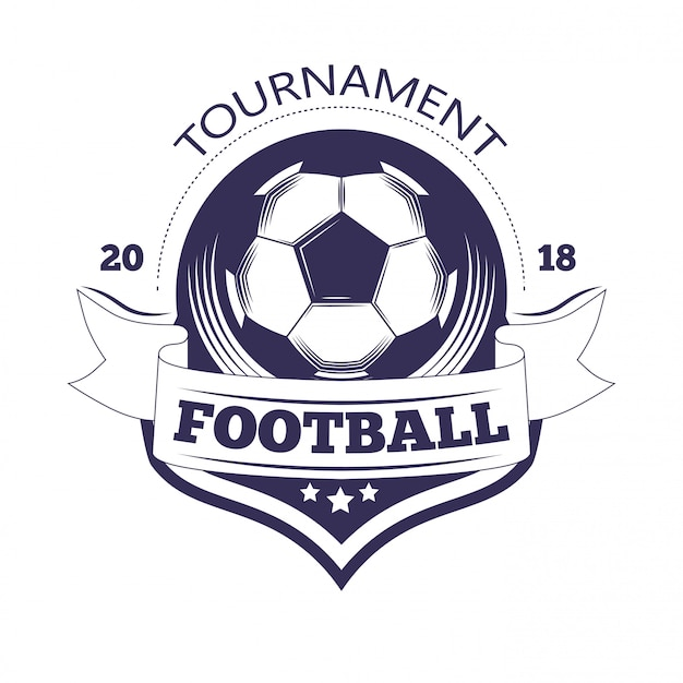 Szablon logo ligi piłki nożnej lub drużyny piłkarskiej.