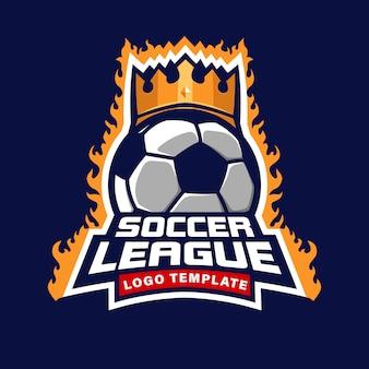 Szablon logo ligi piłki nożnej, symbol turnieju piłki nożnej odznaka