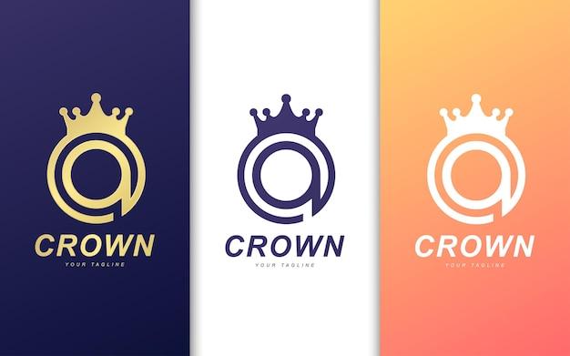 Szablon logo litery a. koncepcja logo nowoczesnego króla