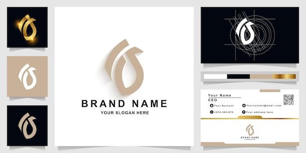 Szablon logo litery a lub aa monogram z projektem wizytówki