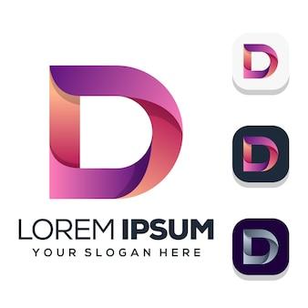 Szablon logo litery d.