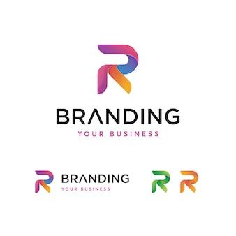 Szablon logo litery r