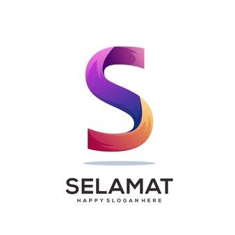 Szablon logo litery s
