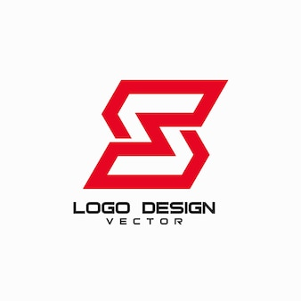 Szablon logo litery s.
