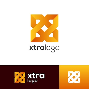 Szablon logo litery x.