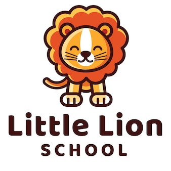 Szablon logo little lion school