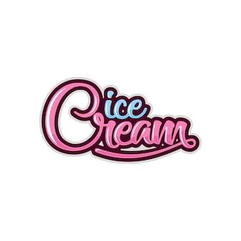Szablon logo lody
