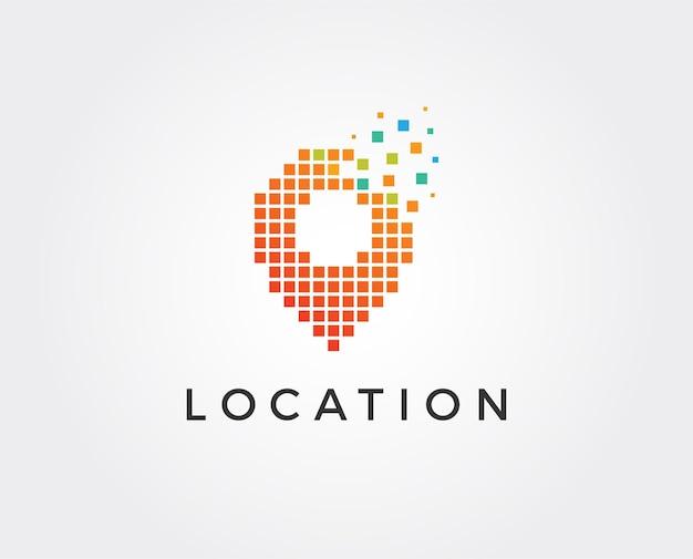 Szablon logo lokalizacji na mapie