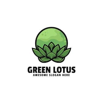 Szablon logo lotosu prosty styl maskotki