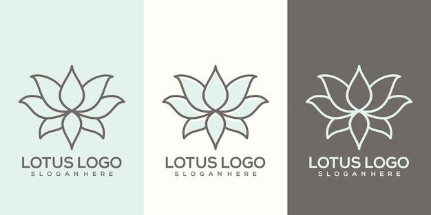 Szablon logo lotosu