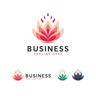 Szablon logo lotus