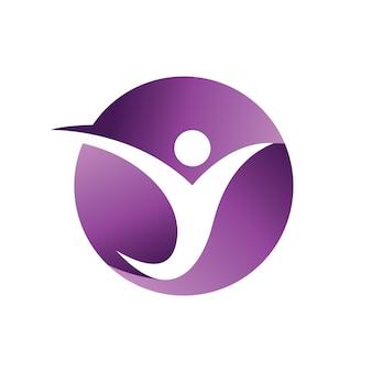 Szablon logo ludzi