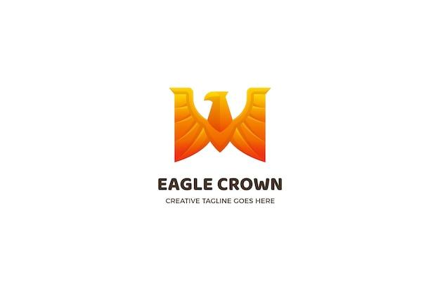 Szablon logo luksusowego biznesu orła korony