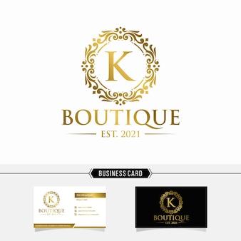 Szablon logo luksusowego butiku