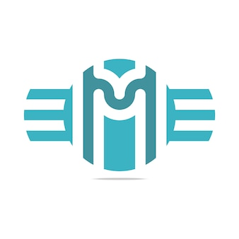 Szablon logo m litery