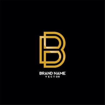 Szablon logo marki monogram b symbol
