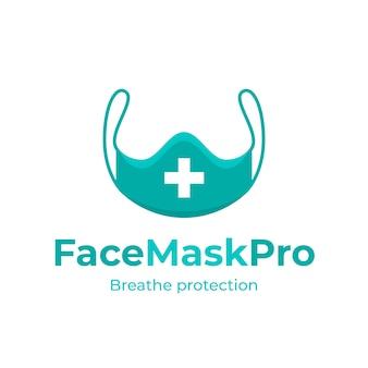 Szablon logo maski na twarz