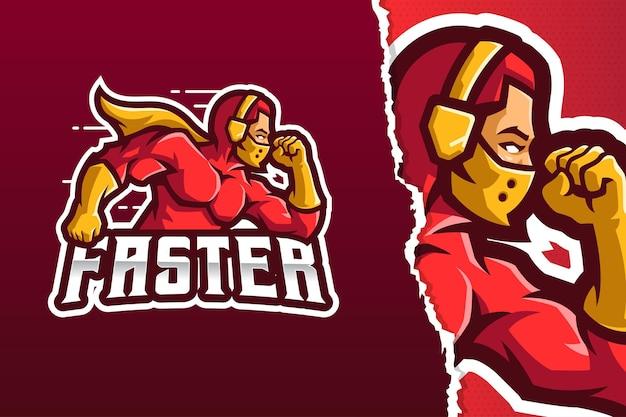 Szablon logo maskotka bohaterki