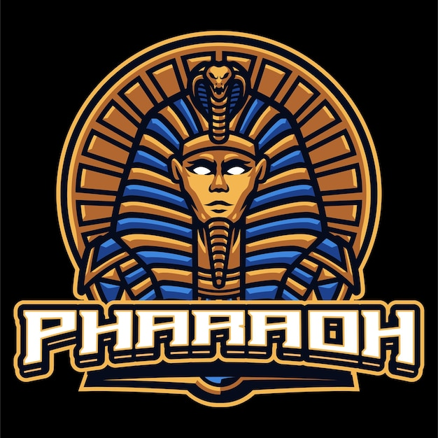 Szablon logo maskotka faraona