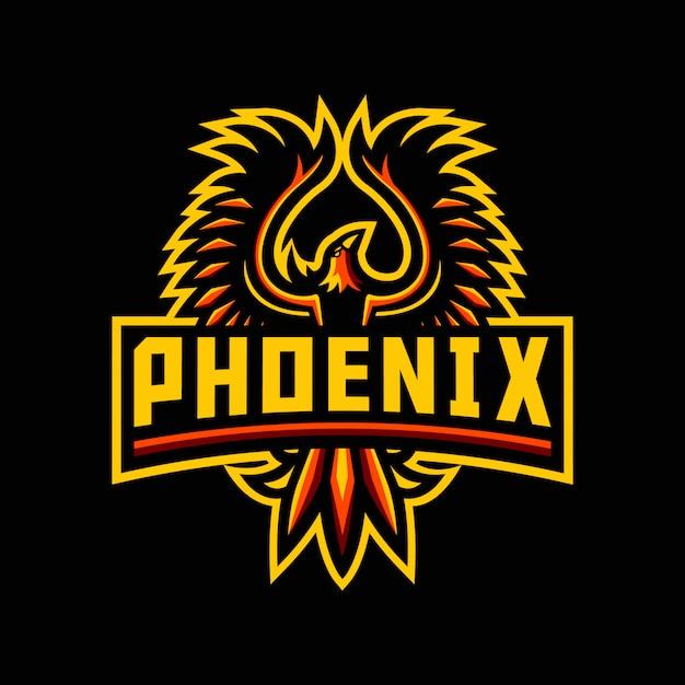 Szablon logo maskotka feniks