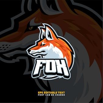 Szablon logo maskotka fox