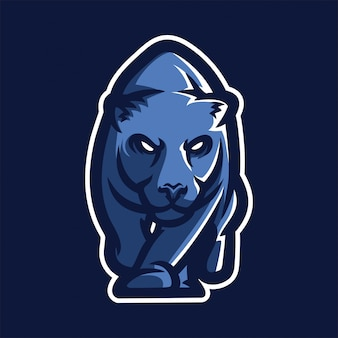 Szablon logo maskotka gry hazardowe jaguar esport