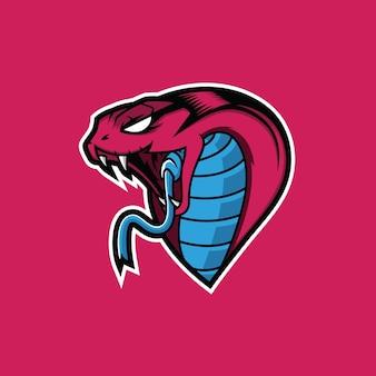 Szablon logo maskotka króla kobry