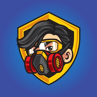 Szablon logo maskotka pracownik drewna
