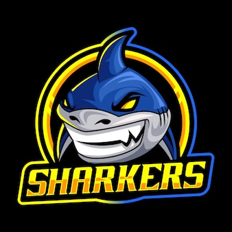 Szablon logo maskotka rekina