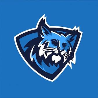 Szablon logo maskotka sportowa bobcat