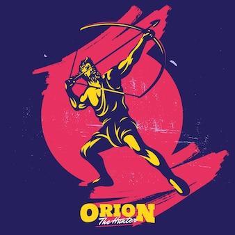 Szablon logo maskotka sylwetka łucznictwo