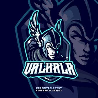 Szablon logo maskotka viking