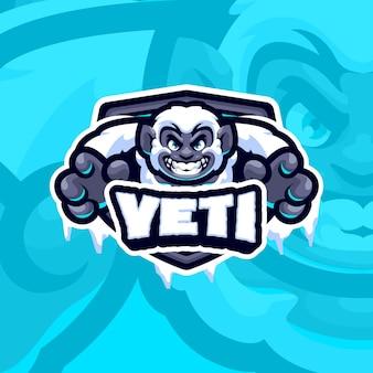 Szablon logo maskotka yeti
