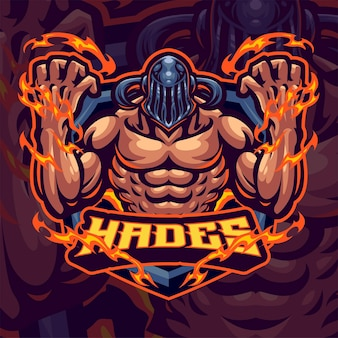 Szablon logo maskotki boga hadesa