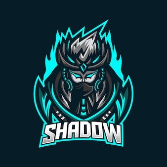 Szablon logo maskotki do gier e-sport ninja
