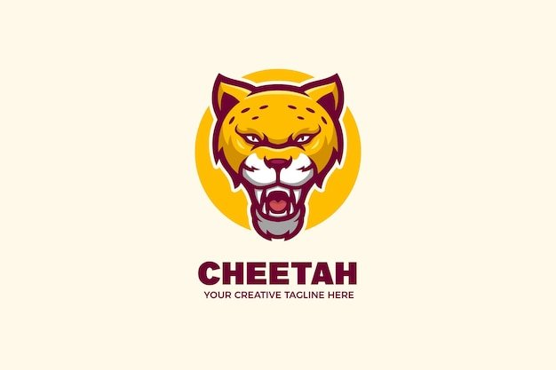 Szablon logo maskotki dzikiego geparda