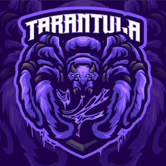 Szablon logo maskotki tarantuli
