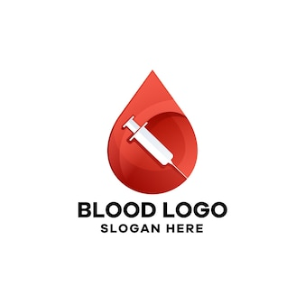 Szablon logo medycznego gradientu krwi